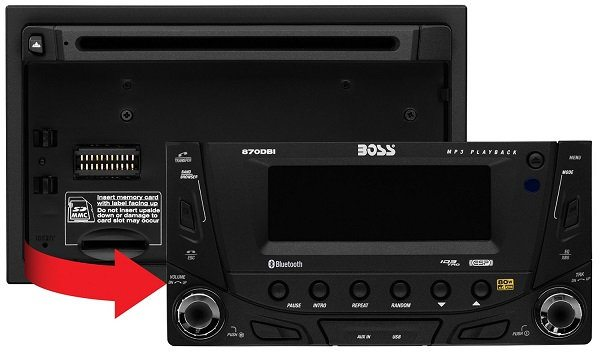 BOSS AUDIO 870DBI Double DIN DC/MP3 Player Receiver, Bluetooth, Detachable Front Panel, Wireless Remote