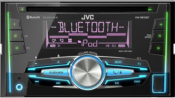JVC KW-R910BT Double DIN Car CD AM/FM Player Receiver with Bluetooth/iPhone/Android