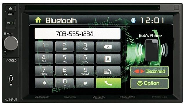 "Jensen VX7020 2 DIN Multimedia Receiver, 6.2"" Touch Screen with Bluetooth and Built-in USB Port"