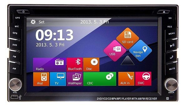 Ouku In-Dash Double DIN Car DVD Player with Touchscreen LCD Monitor, 6.2.