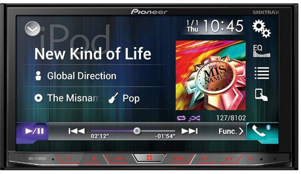 "Pioneer AVH-4100NEX In-Dash Multimedia DVD Receiver with 7"" WVGA Touchscreen Display"