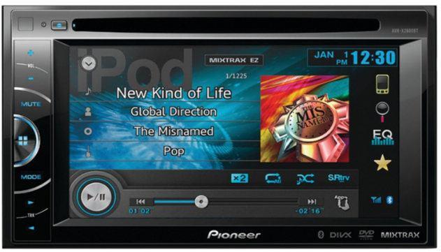 Pioneer AVH-X2600BT 2-DIN Multimedia DVD Receiver