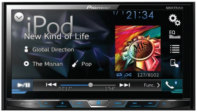 "Pioneer AVH-X4700BS DVD Receiver with 7"" Motorized Display, Bluetooth, Siri Eyes Free, Sirius XM-Ready, Android Music Support, and Pandora (AVHX44700BS)"