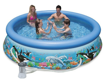 Intex Ocean Reef Easy Set Pool Set with Filter Pump