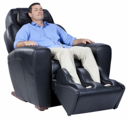 """Human Touch """"AcuTouch 9500x"""" Premium Leather Recliner"""
