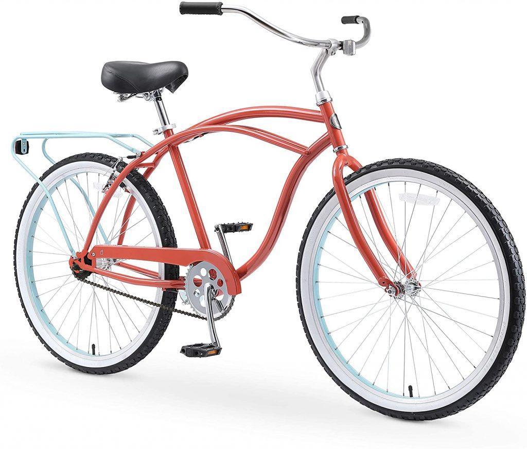 Sixthreezero Around The Block Men's Single Speed Beach Cruiser Bicycle