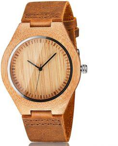 Cucol Men's Bamboo Wooden Watch