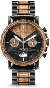 Original Grain Wood Wrist Watch Alterra Collection 44mm Chronograph Watch