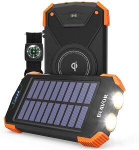 Blavor 10,000 Mah Qi Solar Power Bank