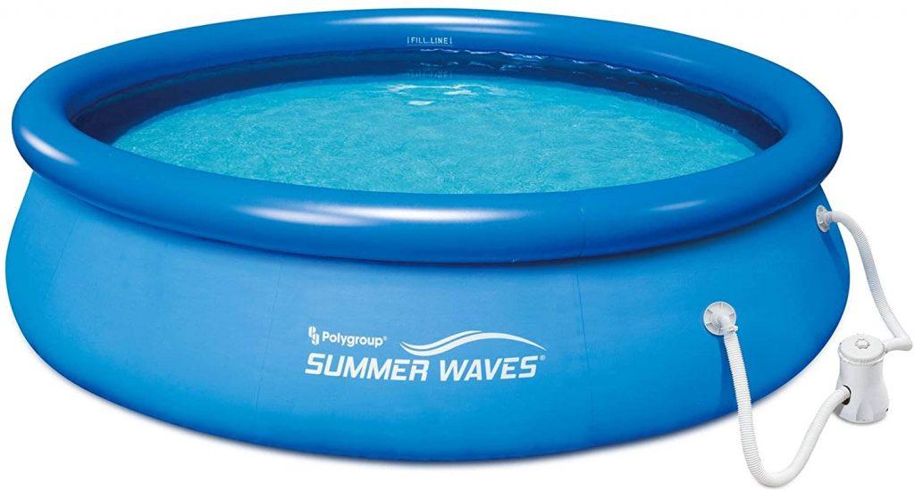 Summer Waves Quick Set Inflatable Above Ground Pool