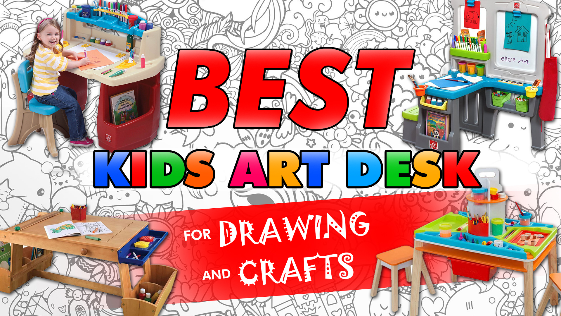 Best Kids Art Desk For Drawing And Crafts