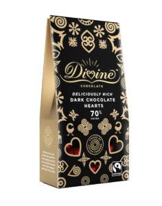 Divine Chocolate 70% Dark Chocolate Hearts