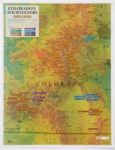 Maps International Colorado 14ers Scratch Off Map