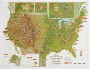 Maps International Usa Whiskey Distilleries Scratch Off Map